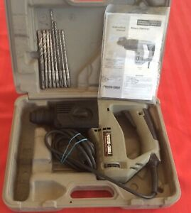 Euc Porter Cable 7765 Sds 1 2 Rotary Hammer Drill W 8 Bits Hard Case Tested