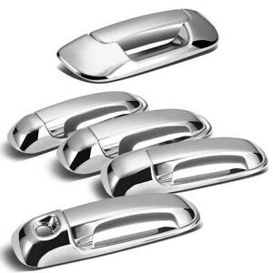 For 2002 2008 Dodge Ram 1500 2500 3500 Chrome 4 Door Handle Tailgate Covers