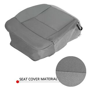 For 2004 2008 Ford F 150 Stx Xl Xlt Driver Side Bottom Gray Cloth Seat Cover