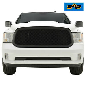 Eag Mesh Grille Grill Abs Black Packaged Replacement Fit 13 18 Dodge Ram 1500