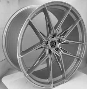 4 Hp1 22 Inch Staggered Silver Rims Fits Ford Shelby Gt 500 2007 2020
