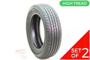 Set Of 2 Used 215 60r17 Dunlop Signature Ii 96t 8 5 9 32
