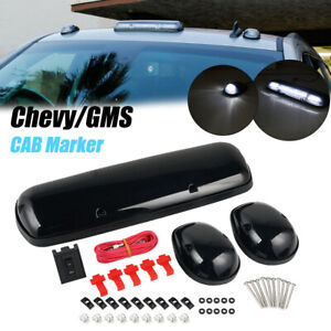 Smoke Led Cab Marker Roof Lights For Chevy Silverado 07 13 Waterproof White Lamp