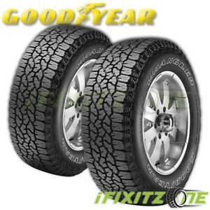 2 Goodyear Wrangler Trailrunner At All Terrain 255 70r16 111s Owl M S Truck Tire
