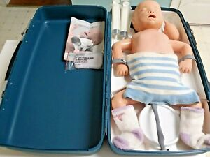 Laerdal Resusci Cpr Emt Baby Infant Nurse Training Manikin W Case Accessories