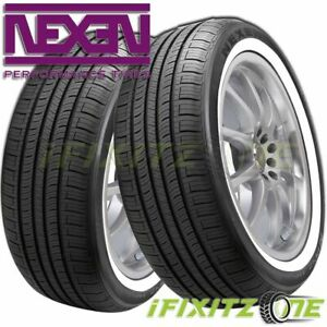 2 Nexen N Priz Ah5 215 75r15 100s White Wall All Season Tire 50000 Mile Warranty