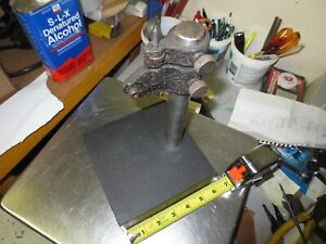 Fowler Granite Check Stand Comparator Base Surface Plate With Mount 6 X 6 X 2