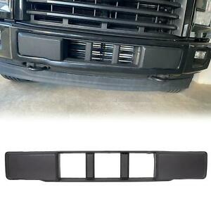 For 2015 2017 Ford F150 Front Bumper Cover Lower Grille Trim Panel Black Plastic