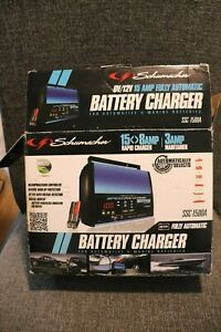 Car Battery Charger W Clamps Auto 6v 12v Open Box Never Used