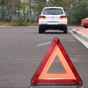 Triangle Safety Warning Parking Sign Reflective Foldable For Road Emergency 1pcs