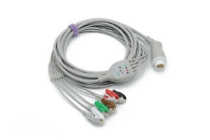 Philips 12 Pin 5 Leads Grabber Ecg Ekg Cable Same Day Shipping