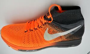 NIKE ZOOM ALL OUT FLYKNIT SIZE 11.5 ORANGE 844134 800 VINTAGE 2016 RETAIL $200 $103.33