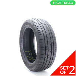 Set Of 2 Used 265 50r20 Bridgestone Dueler H L Alenza Plus 106v 9 32