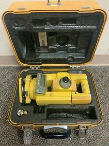 Topcon Gts 313 Surveying Total Station With Case Topcon Battery And Data Cable