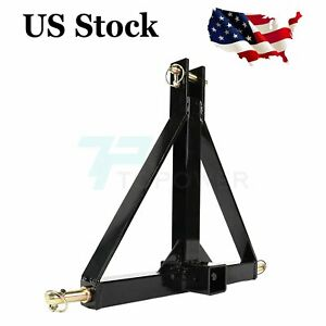 Durable 3 Point 2 In Receiver Trailer Hitch Heavy Duty Tow Drawbar Adapter