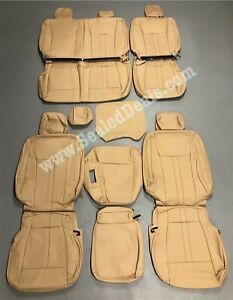 2015 20 Ford F 150 Xlt Supercrew Medium Camel Beige Leather Seat Covers Upgrade