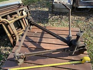 Rare Antique Cast Iron Rolling Car Jack Model T Era Located In Western New York