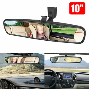 10 Car Wide Interior Rear View Mirror Clip On Rearview For Universal Auto Truck