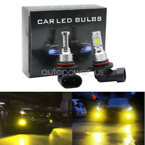 3000k 9005 Hb3 Led Foglight Bulbs Kit Hi Low Beam 55w 8000lm Yellow