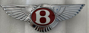 Bentley Continental Gt Front Chrome Grill Emblem 2012 2015 Like New