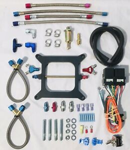 Nos Cheater Dual 2 Stage Nitrous Plate Kit 4150 300hp