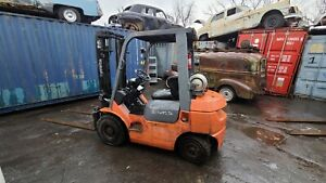 2005 Toyota 7f Forklift Work Horse Lp Fuel Dual Fuel Capable Located In Ny