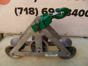 Greenlee 6036 6000 Lbs Triple Sheave Wire Pulling Tugger Puller Great Shape 1