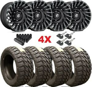 20x10 Fuel Cyclone Wheels Rims Tires 33 12 50 20 Rhino Xd Tint
