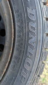 4 Dunlop Wintermaxx Snow Tires 205 55 R16 With Rims
