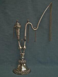 Huge 74 Cm Antique Sterling Silver Islamic Indian Pipe Hookah Huqqa India