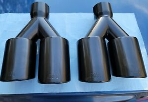 Bmw M Black Exhaust Tips Pair L R Muffler Tips Exhaust Pipe