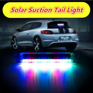 Car Color Solar Led Burglar Alarm Strobe Warning Emergency Blinker Flash Light