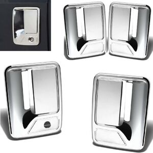 For 2008 2016 Ford F250 F350 F450 Chrome 4 Door Handle Covers W o Pskh