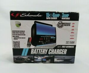 Schumacher Battery Charger Car Battery Charger W Clamps Boat Rv Truck Auto Moto