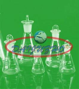 50 100 150 250ml Flask Conical Bottle Lab Chemistry Glassware Glass Erlenmeyer