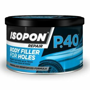 Upol Isopon Fibreglass Body Filler For Holes 250ml Upop40 S