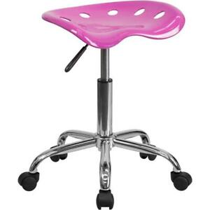 Vibrant Candy Heart Tractor Seat And Chrome Stool