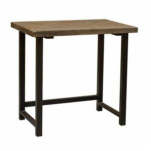 Pomona 32 w Small Metal And Solid Wood Desk