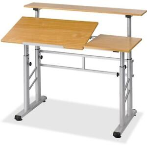 Safco Height adjustable Split Level Drafting Table Rectangle Top