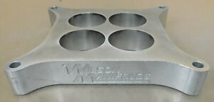 Wilson Manifolds Wm 011111 1 4 Hole 4150 Carb Spacer Aluminum 1 700 Bore