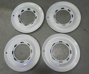 Nos Vintage Beauty Rings White Hubcaps Chrysler Or Ford Or Chevy 1942 1946 1948