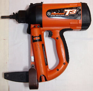 Ramset T3ss Gas Nailer W charger Two Batteries Powder Actuated Fastener Tool