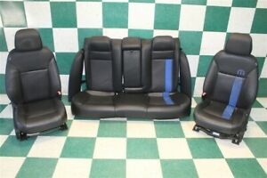 11 14 Charger Oem Mopar Rallye Black Leather Power Heated Buckets Backseat Seats
