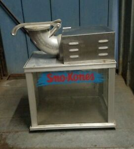 Sno Konette Ice Shaver 1003 Snow Cone Machine Works Great Commercial Use