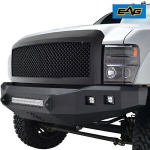 Eag Replacement Grille Front Hood Upper Grill Fit 08 10 Ford F250 Matte Black