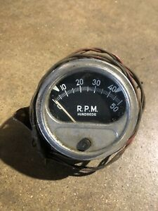 Vintage Sun Tachometer Model Rc 50 Rat Rod Chevy Ford Pontiac Buick Olds