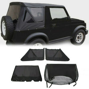 Upper Replacement Soft Top Tint Windows Black For 1986 1994 Suzuki Samurai