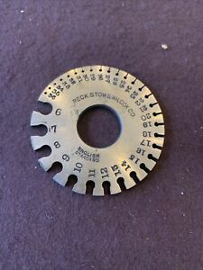 Peck stow Wilcox Co English Standard Wire Gage 6 36
