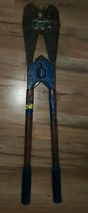 Vintage Electrical Crimping Tool 25 Inches Long