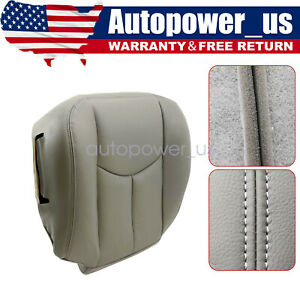 Driver Bottom Seat Cover Gray For 2003 2004 2005 2006 Gmc Sierra 1500 2500hd